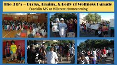 Franklin MS at their Books, Brains, & Body of Wellness Parade