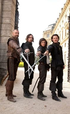 """The Three Musketeers"" - 2011  Logan Lerman, Matthew Macfadyen, Ray Stevenson, Luke Evans, Milla Jovoich, Christoph Waltz, Orlando Bloom"