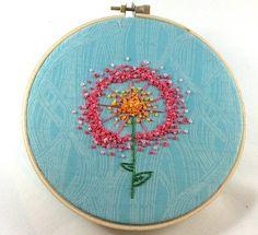 DIY Dandelion Puff Embroidery Pattern