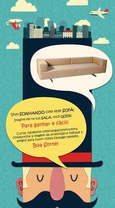 Quem será o sortudo que irá colocar esse lindo sofá na sua sala?