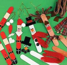 Popsicle Stick Ornaments | A Little Bit of This, That, and Everything