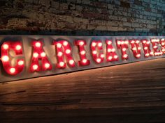 Wood Lighted Marquee--