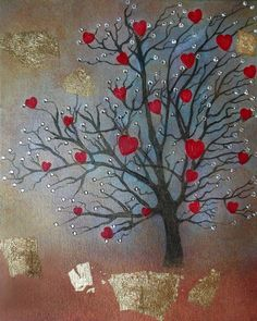 The tree of love (From the series ''All about love''). (Oil on canvas) (24cmx30xm)