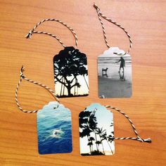 Instagram Photo Prints Hang Tags DIY - Not just for Christmas. Use Instagram photos to create handmade gift tags for holidays and birthdays.