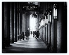 Civic Opera Building portico, home to Lyric Opera of Chicago