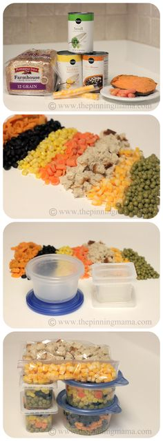 Baby led weaning finger foods - portion out and freeze or refrigerate