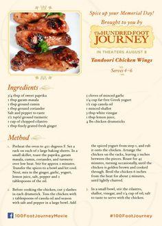 Tandoori Chicken Wings from Disney's the 100 Foot Journey