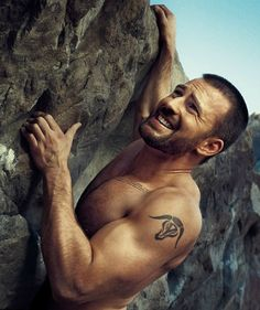 Chris Evans. It's kind of embarrassing how even though this isn't a good picture of him, I still want to be the reason that he is climbing to the top.