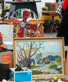 May 2014 FOUND FLEA - Vintage Paint by Number paintings!