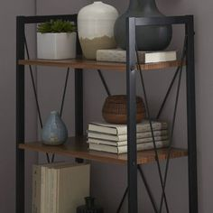 """You'll love the Baxton Studio New Semester 50"""" Etagere Bookcase at Wayfair - Great Deals on all Office  products with Free Shipping on most stuff, even the big stuff."""