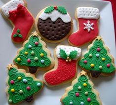 X-mas cookies with fondant