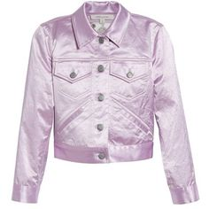 Women's Marc Jacobs Classic Satin Jacket (€320) ❤ liked on Polyvore featuring outerwear, jackets, denim utility jacket, marc jacobs, denim jacket, pink satin jacket and jean jacket