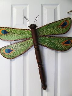 Dragonfly Yard Art | Table Leg Dragonfly Wall or Garden Art- Peacock and Leopard Animal ...