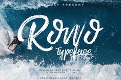 Typographie : Elle est gratuite et elle s'appelle « ROWO »