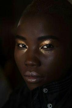 Dark chocolate skin.