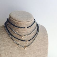 Moon Crescent Choker Necklace