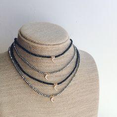 Moon Crescent Choker Necklace