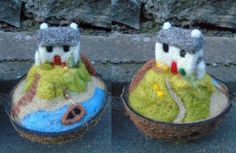 Needle felted 'In a nutshell' 2 - SShaw