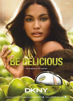 DKNY Be Delicious Fragrance S/S 2011. Model: Chanel Iman
