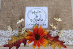 Fall Guest Book & Pen Set Choice of colors by ParadiseBridal