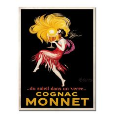 "Trademark Fine Art Vintage 'Cognac Monnet' 35"" x 47"" Canvas Art"
