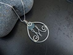 Sea glass jewelry  Personalized sea glass and by FatCatsOnTheBeach, $53.00