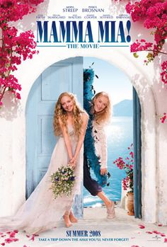 Bodoni on Mamma Mia! movie poster #typography