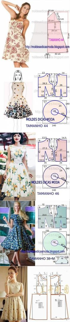 26 Ideas for sewing crafts costura Skirt Patterns Sewing, Clothing Patterns, Pattern Sewing, Diy Clothing, Sewing Clothes, Fashion Sewing, Diy Fashion, Moda Fashion, Diy Vetement
