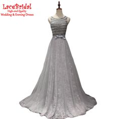 Find More Evening Dresses Information about Real Luxury Silver A Line Beaded…
