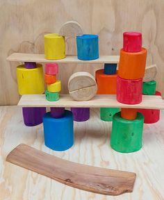 Tree blocks/ Toddler wood toy/ Waldorf inspired wooden blocks