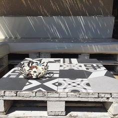 Table basse réalisée avec une palette / Pallets DIY for the terrace
