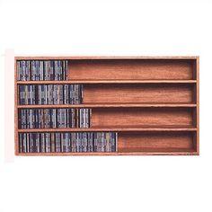 Wood Shed 400 Series 472 CD Wall Mounted Multimedia Storage Rack Color: Natural Cd Storage Rack, Diy Dvd Storage, Diy Dvd Shelves, Cd Racks, Dvd Storage Cabinet, Cd Shelf, Movie Storage, Shelf Wall, Storage Ideas