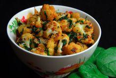 Cauliflower Spinach Curry