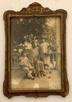Artist Julian Alden Weir 039 s Daughters and Mother Art Deco Framed Original Photo   eBay