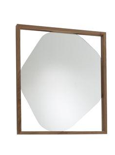"Ligne Roset ""Belize""mirror in American Walnut by Kensaku Oshiro Belize, Ligne Roset, Modern Furniture Stores, Small Mirrors, American Walnut, Furniture Collection, Home Accessories, Contemporary, Mirrors"