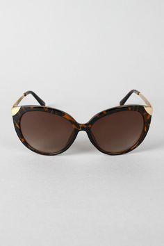Metallic Edging Sunglasses