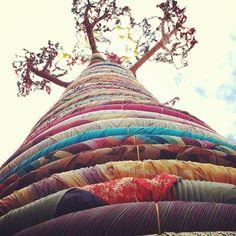 Fabric Tree.  London.  Photo by Madisen B