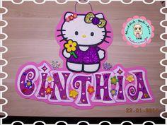 Precioso cartel en foami para Cinthia, su cumpleaños ha sido increíble! ambientado con Hello kitty.  Ya sabes! si deseas sorprender a alguien solicitamos tu cartel deseado.