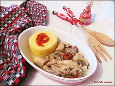 Tocăniță din piept de pui cu ciuperci și mămăliguță Hummus, Ethnic Recipes, Food, Essen, Meals, Yemek, Eten