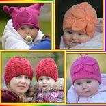 Baby Knitting Patterns Headband Ravelry: Lady Butterfly Hat Knitting Pattern pattern by Tatsiana Matsiuk Crown Pattern, Headband Pattern, Knitted Headband, Knitted Hats Kids, Kids Hats, Crochet Hats, Baby Girl Winter Hats, Baby Hats, Baby Hat Knitting Patterns Free