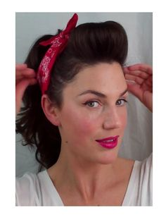 6 PIN UP looks for BEGINNERS ( QUICK and EASY VINTAGE/ RETRO hairstyles), via YouTube.