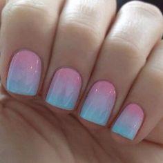 Ombre nail art - http://yournailart.com/ombre-nail-art/ - #nails #nail_art #nails_design #nail_ ideas #nail_polish #ideas #beauty #cute #love
