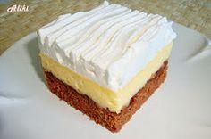 Mamina jela: Kocke s nutellom i vanila kremom Greek Sweets, Greek Desserts, Cheesecake Recipes, Dessert Recipes, Cyprus Food, Blog Food, Sauces, Kolaci I Torte, Food Tags