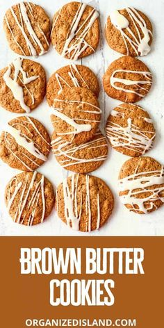 These are the Best Brown Butter cookies! Made with just a few ingredients and topped with a light icing - delicious!