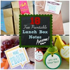 Send a little love their way with Lunch Time Love: 18  FREE Printable Lunch Box Notes via Spoonful