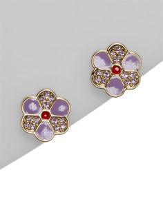 swarovski crystal flower earrings... If I were shopping for my own Christmas present, that is...