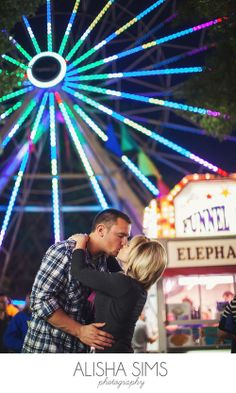 Engagement Couple at the fair