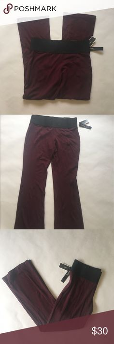 """Purple boot leg pants Elastic waist pants color purple. Brand: Alfani via Macy's  Measurements: total length. 42"""" Inseam 29"""" waist flat 17"""" 🚫modeling  🚫trades (askers will be ignored) or lowballing  ✅ will consider offers made through BLUE offer button.  LB ✅ great bundle discount. Macy's Pants"""
