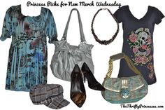 Really cute outfits! www.thethriftyprincesses.com