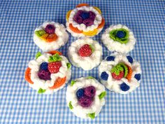 Fruit Desserts amigurumi pattern by Janine Holmes at Moji-Moji Design